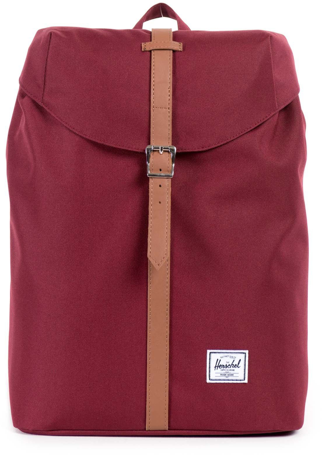 Herschel Rucksack mit Laptopfach, »Post Backpack, Windsor Wine, Mid Volume«